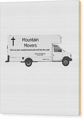 Mountain Movers Wood Print by Stephanie Grooms