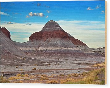 Mountain Of Color - Painted Desert  002 Wood Print by George Bostian