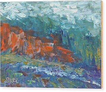Mountain Of Memory Wood Print