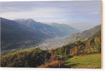 Mountain Panorama Wood Print by Giuseppe Epifani