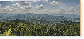 Wood Print featuring the photograph Mountain Panorama by Jaroslaw Grudzinski