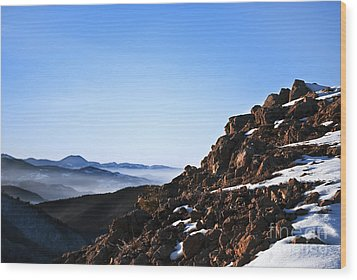 Mountain Peak Wood Print by Jelena Jovanovic