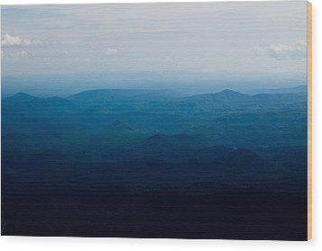 Mountain Peak Wood Print by Kim Fearheiley