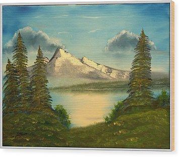 Mountain Pond Wood Print by Joyce Krenson