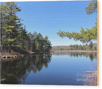 Mountain Pond - Pocono Mountains Wood Print