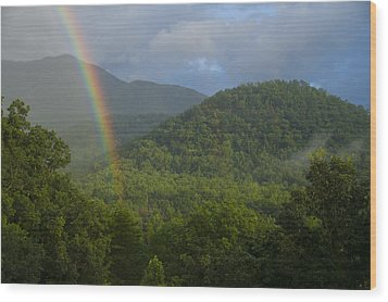 Mountain Rainbow 2 Wood Print