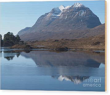 Mountain Reflection Wood Print