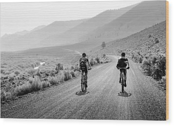 Mountain Riders Wood Print