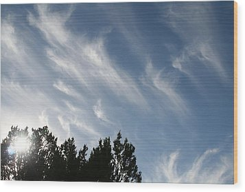 Mountain Sky Wood Print