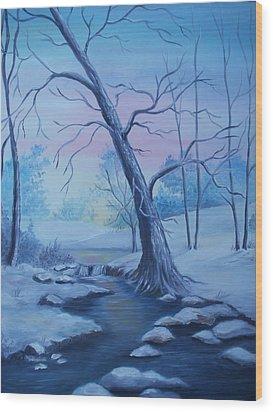 Mountain Stream  Wood Print by Glenda Barrett