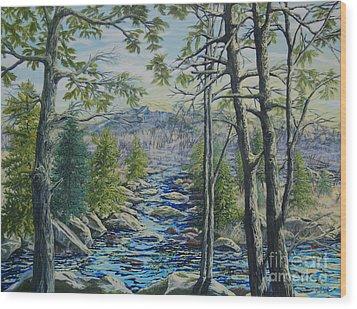 Mountain Stream II Wood Print
