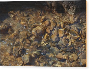Wood Print featuring the digital art Mountain Stream by Kelvin Booker