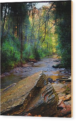 Mountain Stream N.c. Wood Print