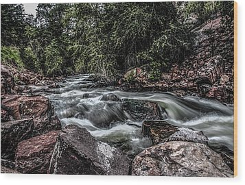Mountain Stream Wood Print by Ray Congrove