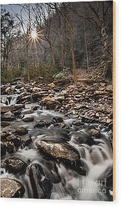 Wood Print featuring the photograph Icy Mountain Stream by Debbie Green