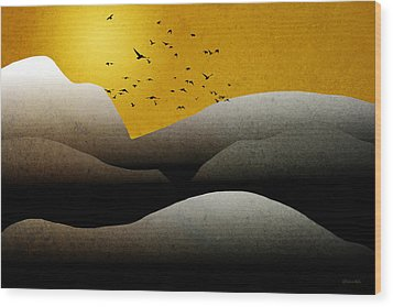 Mountain Sunrise Landscape Art Wood Print by Christina Rollo