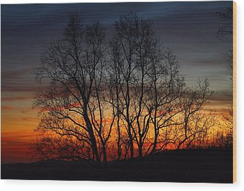 Wood Print featuring the photograph Mountain Sunset by Kathryn Meyer