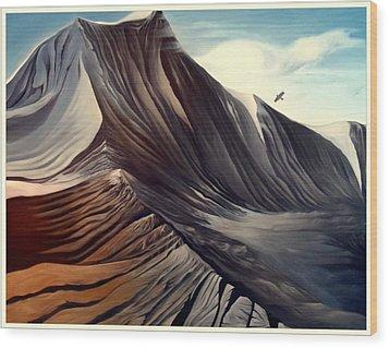 Mountain To Climb Wood Print by Dawson Taylor