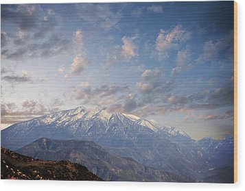 Mountain Top Wood Print by Athala Carole Bruckner