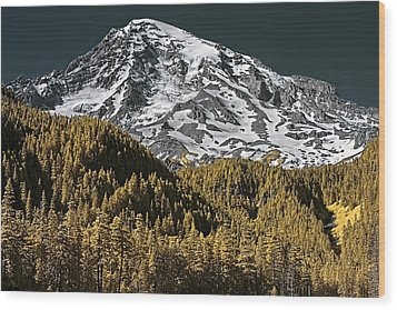Mountain Top Wood Print