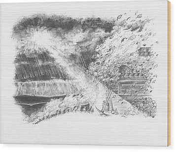 Mountain Top Wood Print by Scott and Dixie Wiley
