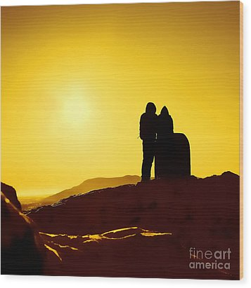 Wood Print featuring the photograph Mountain Top Sunset by Craig B