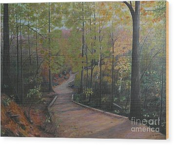 Mountain Trail Wood Print
