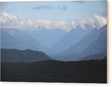 Mountain Valley Wood Print by Kirt Tisdale