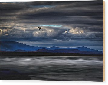 Mountain View - Mt. Katahdin Wood Print by Gary Smith