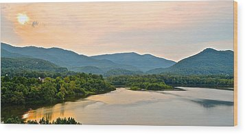 Mountain View Wood Print by Frozen in Time Fine Art Photography