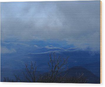 Mountains And Ice Wood Print by Daniel Reed