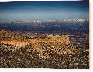 Mountains At Senator Clinton P. Anderson Scenic Route Overlook  Wood Print by Douglas Barnard