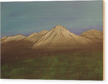 Mountains In The Mists Wood Print by Keith Nichols