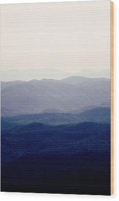 Mountains Wood Print by Kim Fearheiley