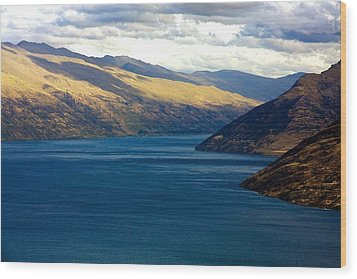 Wood Print featuring the photograph Mountains Meet Lake #2 by Stuart Litoff