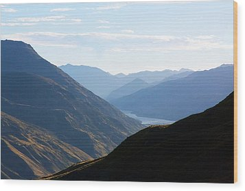 Wood Print featuring the photograph Mountains Meet Lake #3 by Stuart Litoff