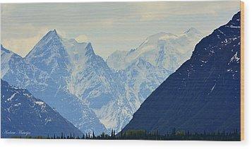 Mountains Near Matanuska Glacier Wood Print