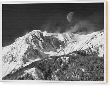 Mountains Of The Moon Wood Print by Adele Buttolph