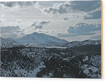 Mountains Of Wild Cat Ranch Wood Print by Allen Carroll