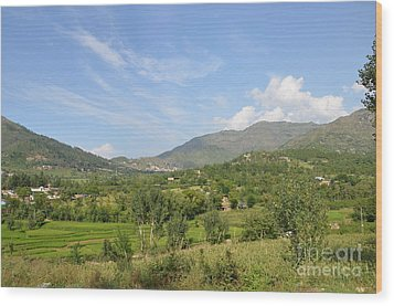 Wood Print featuring the photograph Mountains Sky And Clouds Swat Valley Pakistan by Imran Ahmed
