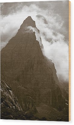 Mountainscape Wood Print by Frank Tschakert