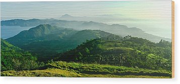 Mountaintop Panorama Wood Print