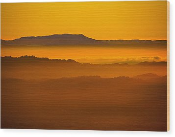 Mountaintop Sunset Wood Print by Michael Courtney