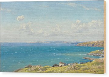 Mount's Bay C1899 Wood Print by Arthur Hughes