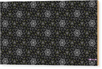 Wood Print featuring the digital art Mourning Weave by Elizabeth McTaggart
