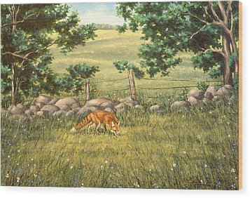 Mouse Patrol Wood Print by Richard De Wolfe