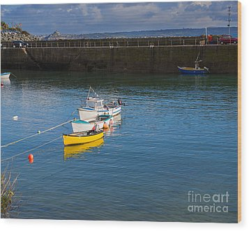 Mousehole Cornwall Wood Print by Louise Heusinkveld