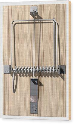 Mousetrap Plain Perspective Wood Print by Allan Swart