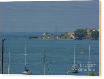 Wood Print featuring the photograph Mouth Of The Niagara River by Jim Lepard