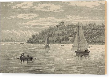 Mouth Of The Shrewsbury River 1872 Engraving Wood Print by Antique Engravings